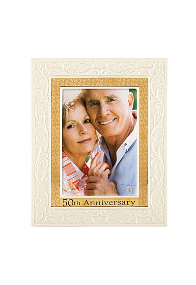 """Lenox 50th Anniversary 5X7"""" Picture Frame"""