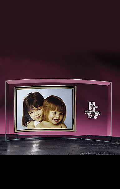 "Crystal Blanc, Personalize! 5""X7"" Horizontal Picture Frame"