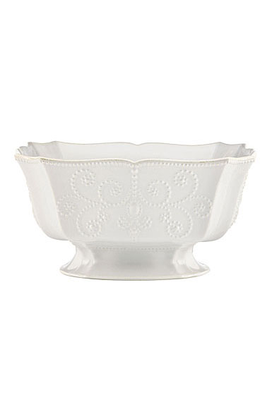 Lenox French Perle White Dinnerware Footed Centerpiece Bowl