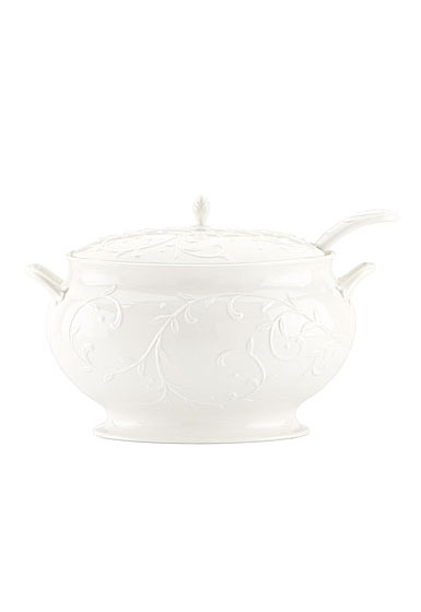 Lenox Opal Innocence Carved Dinnerware Covered Tureen With Ladle