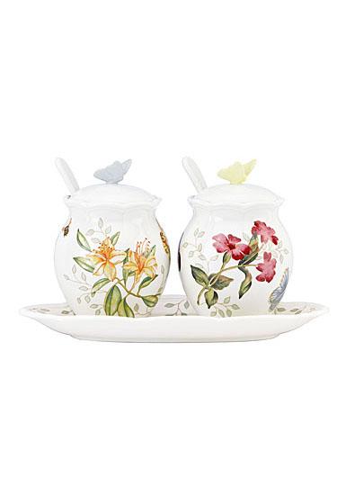 Lenox Butterfly Meadow Dinnerware Condiment Set 7Pc Set