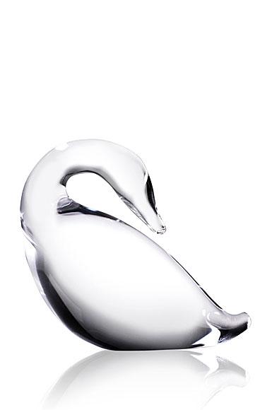Steuben Preening Goose Sculpture