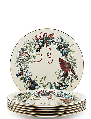 Lenox Winter Greetings Dinner Plates, Buy 3 Get 6