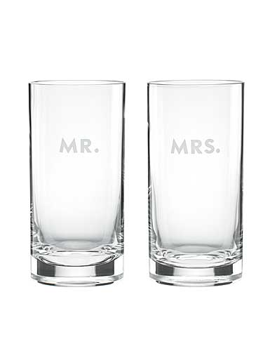Kate Spade New York, Lenox Darling Point Crystal Hiball, Pair