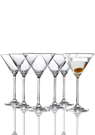 Lenox Tuscany Classics, Crystal Cocktail Crystal Martini, Set of Six