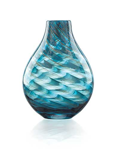 "Lenox Seaview 11"" Swirl Bottle Vase"