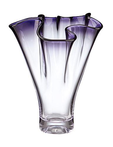 """Lenox Organics Ruffle Purple 12"""" Crystal Vase"""