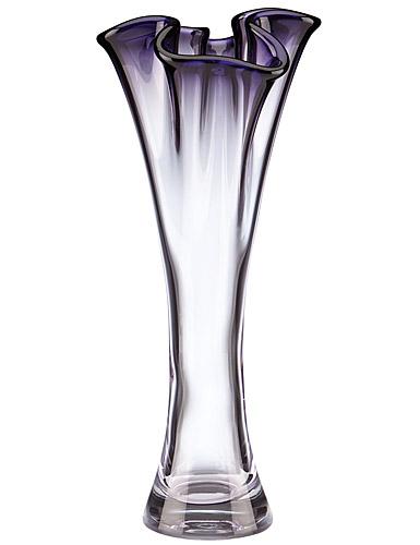 Lenox Organics Purple Hue Cylinder Ruffle Crystal Vase