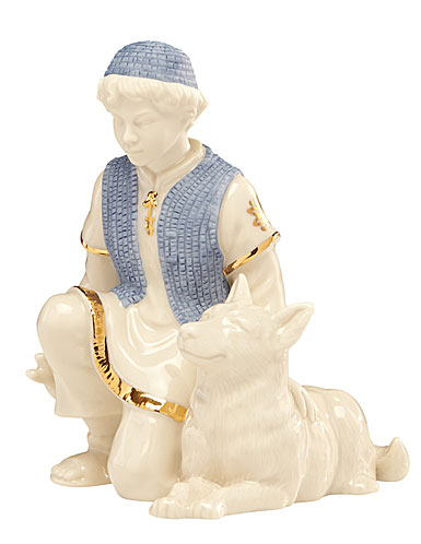 Lenox First Blessing Nativity Shepherd Boy with Sheep Dog