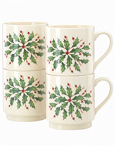 Lenox Holiday Stackable Mug, Set of 4