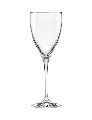 Lenox kate spade, New York Larabee Dot Platinum Crystal Goblet, Single
