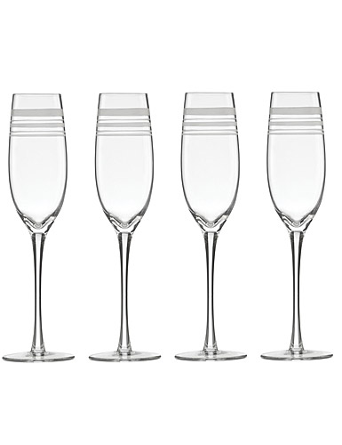 Lenox kate spade, New York Library Stripe Crystal Flutes, Set of 4