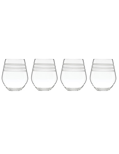 Lenox kate spade New York Library Stripe Stemless White Wine, Set of 4