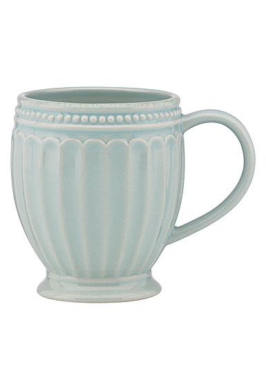 Lenox French Perle Groove Ice Blue Dinnerware Mug, Single