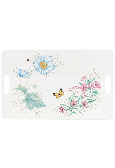 Lenox Butterfly Meadow Melamine Dinnerware Serving Tray Lg