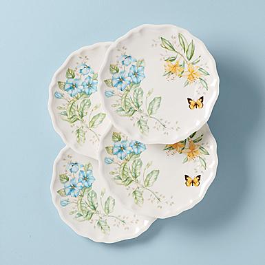 Lenox Butterfly Meadow Melamine Dinnerware Dinner Place Setting Of Four