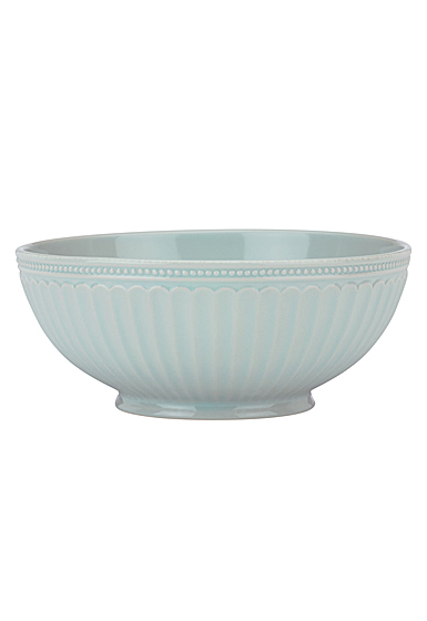 Lenox French Perle Groove Ice Blue Dinnerware Serving Bowl