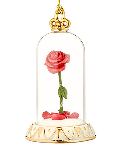 Lenox Beauty and The Beast Rose Ornament