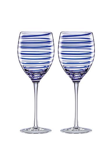 Kate Spade New York, Lenox Charlotte Street Crystal Wine, Pair