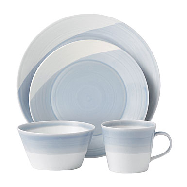 Royal Doulton China 1815 Casual Dinnerware, Blue, 4 Piece Place Setting