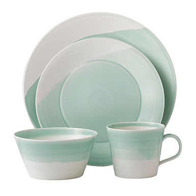 Royal Doulton China 1815 Casual Dinnerware, Green, 4 Piece Place Setting
