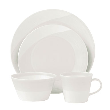 Royal Doulton China 1815 Collection White, 4 Piece Place Setting