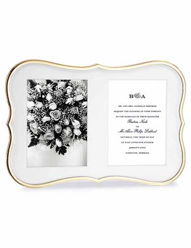Lenox kate spade Crown Pt Gold Double Invitation Frame