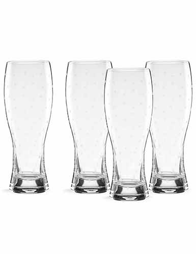Lenox kate spade, Larabee Dot Wheat Crystal Beer, Set of 4