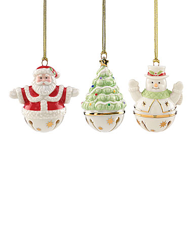Lenox Figural Sleigh Bells Ornament, Set of Three