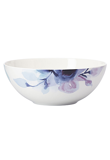 Lenox Indigo Watercolor Floral Dinnerware Serving Bowl