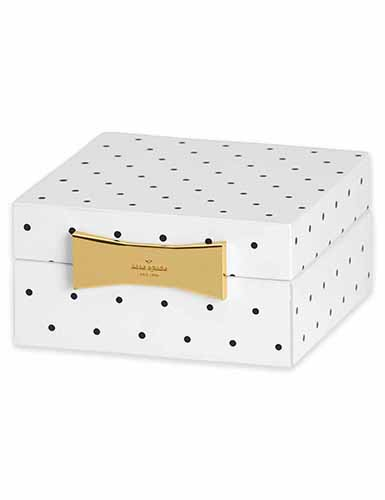 Lenox kate spade Outpost Gifting Square Jewelry Box, Spot