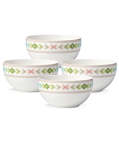 Lenox China Entertain 365 Sculpture Green and Blue Dessert Bowls, Set of 4