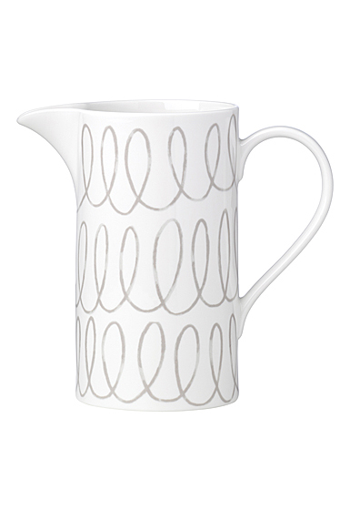 Kate Spade China by Lenox, Charlotte St Grey Pitcher