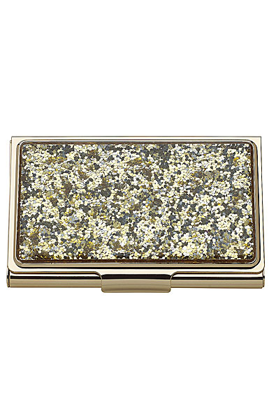 Kate Spade New York, Lenox Simply Sparkling Gold Glitter Business Card Holder