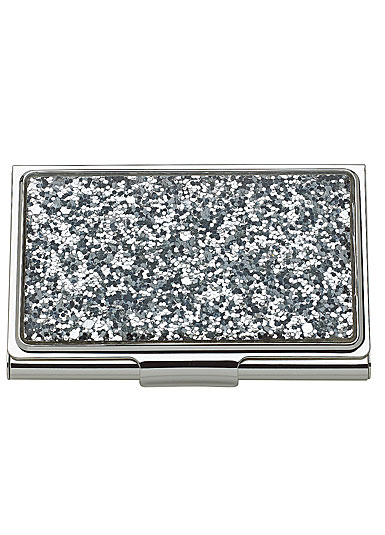 Kate Spade New York, Lenox Simply Sparkling Silver Glitter Business Card Holder