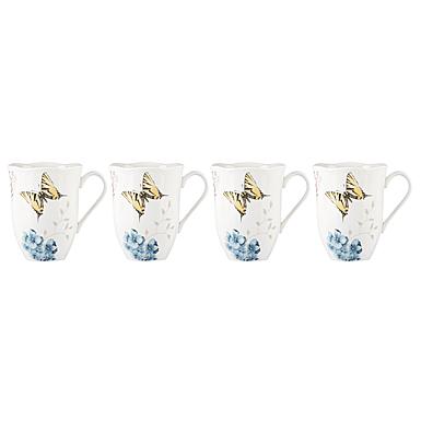 Lenox Butterfly Meadow Hydrangea Dinnerware Mug Set Of Four