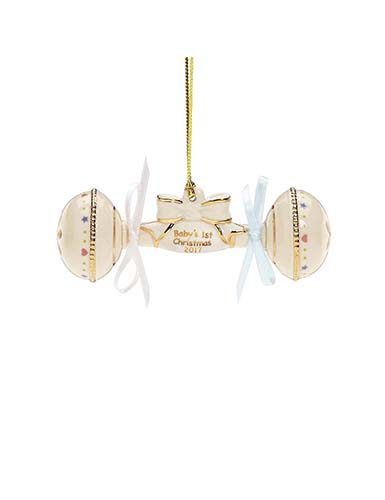 Lenox Annual 2017 Baby's 1st Christmas Rattle Ornament