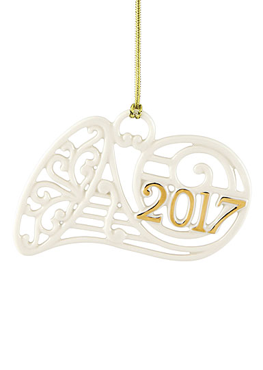 Lenox Annual 2017 A Year to Remember Horn Ornament