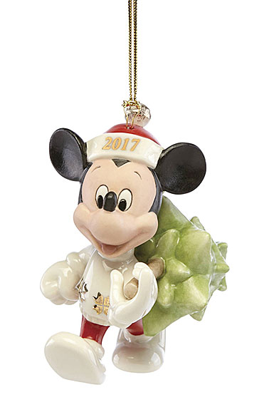 Lenox Annual 2017 Trimming the Tree Mickey Ornament