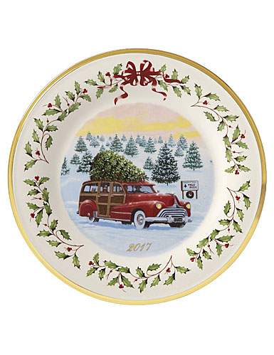 Lenox Annual 2017 Vintage Wagon Holiday Plate, 27th Edition