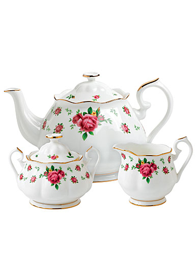 Royal Albert New Country Roses White 3 Piece Teaset