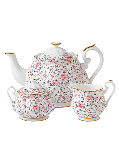 Royal Albert New Country Roses Rose Confetti 3 Piece Teaset