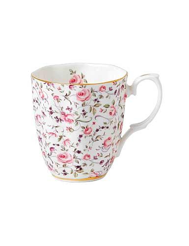 Royal Albert China New Country Roses Rose Confetti Vintage Mug, Single