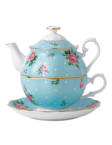 Royal Albert China Polka Blue Tea For One