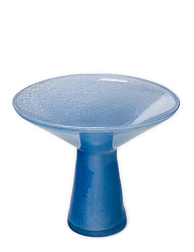 Sea Glasbruk Spring Flare Vase, Stonewash Blue White