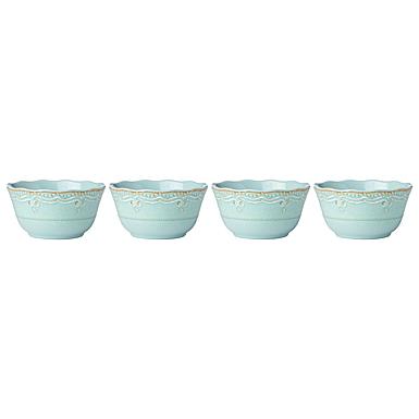Lenox French Perle Melamine Dinnerware Aquamarine Bowl Set Of 4