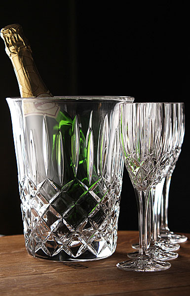 Royal Doulton Champagne Set, Ice Bucket with Four Flutes