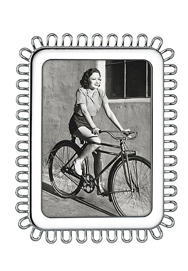 """Lenox Kate Spade Keaton Street Silver 5x7"""" Frame"""