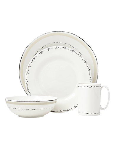 Kate Spade New York, Lenox Union Square Taupe 4 Piece Place Setting