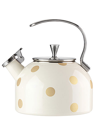 Kate Spade New York, Lenox Gold Deco Dot Metal Kettle